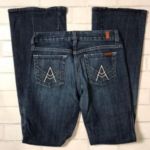 "7 Seven for All Mankind ""A"" Pocket 25 Flare Mid"
